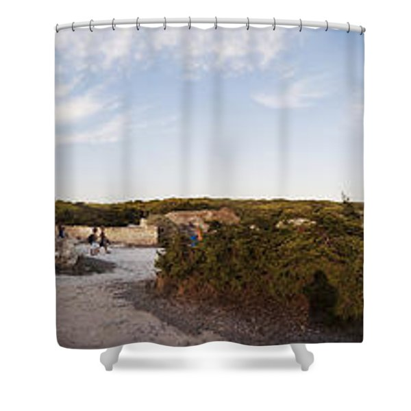 Access To The Beach Of Es Trenc Shower Curtain