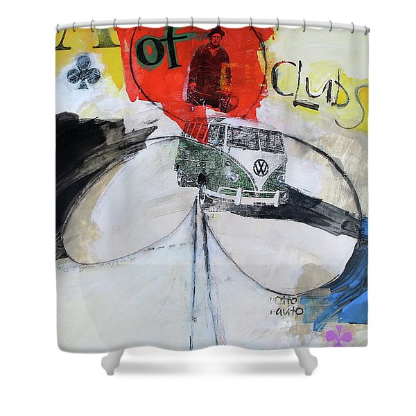 Ace Of Clubs 36-52 Shower Curtain