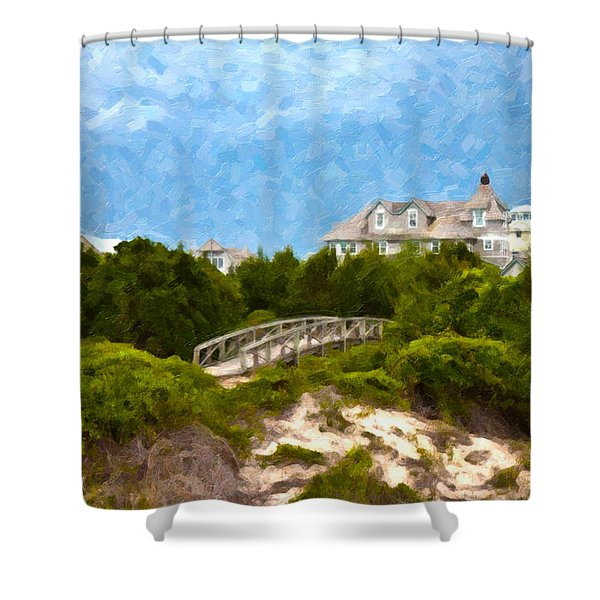 Across The Bridge Shower Curtain