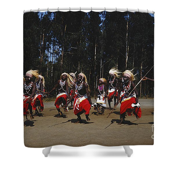 African Intore Dancers Shower Curtain