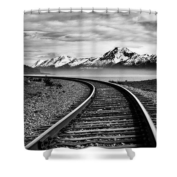 Alaska Railroad Shower Curtain