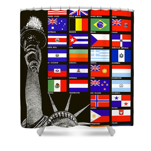 Allied Nations Fight For Freedom Shower Curtain