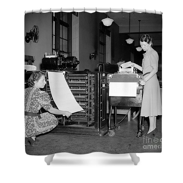 American Census Bureau, 1940 Shower Curtain