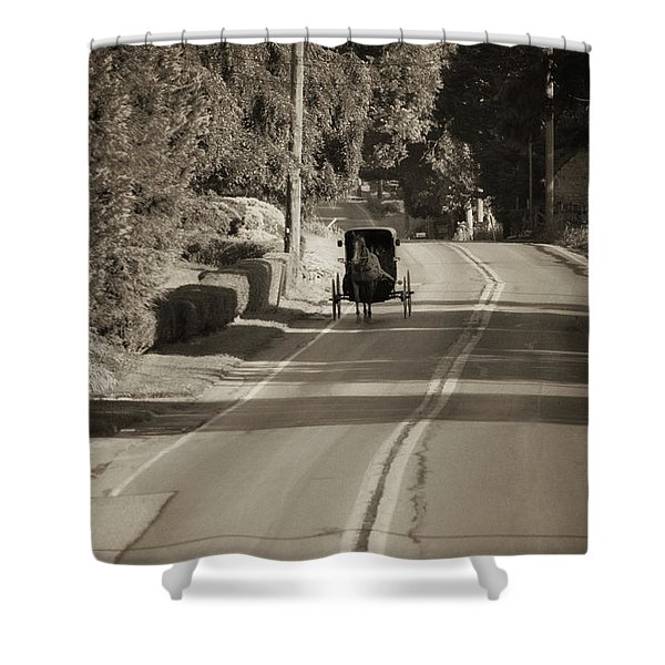Amish Buggy - Lancaster County Pa Shower Curtain