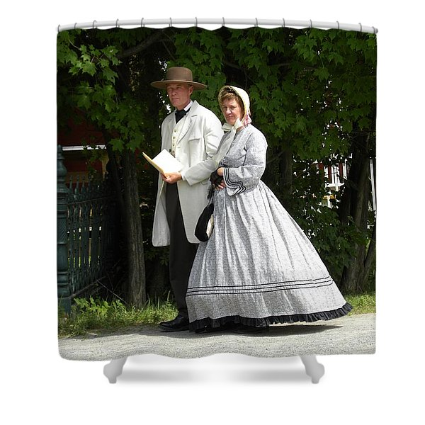 An Afternoon Stroll Shower Curtain