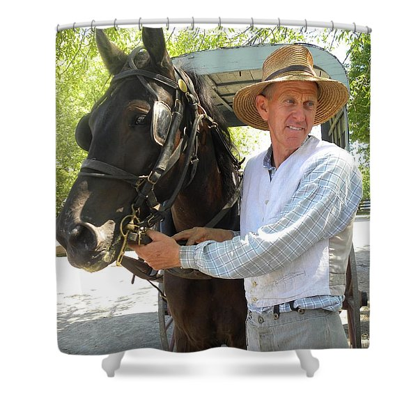 An Old Fashion Delivery Shower Curtain