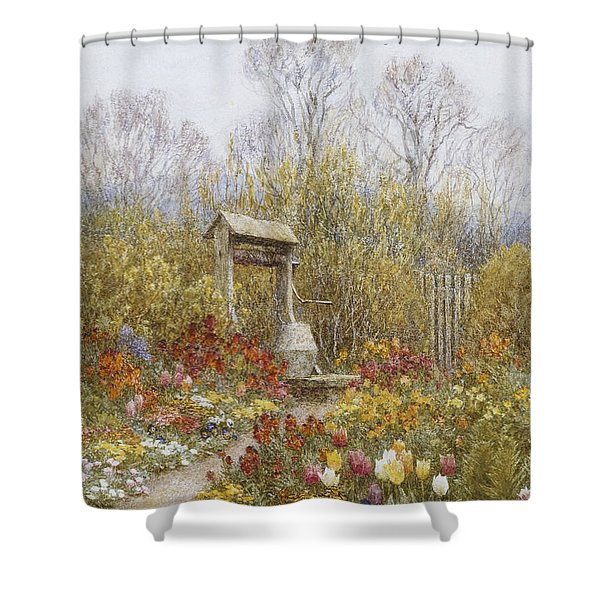 An Old Well Brook Surrey Shower Curtain