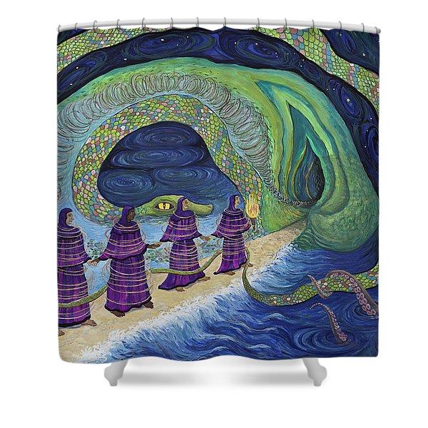 Ancient Serpent Shower Curtain