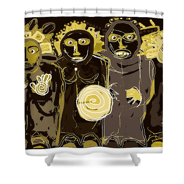 Ancients -duotone Shower Curtain