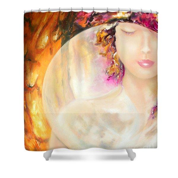 Angel Luna Shower Curtain
