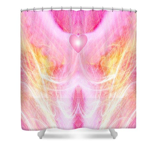 Angel Of Divine Love Shower Curtain