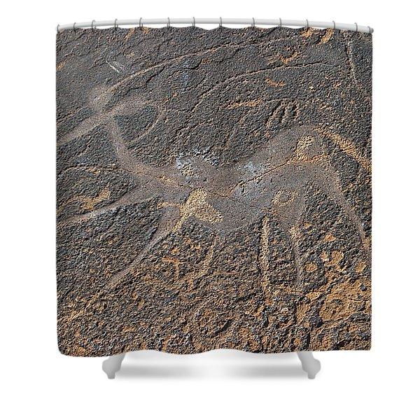 Antelope Petroglyph Namibia Shower Curtain