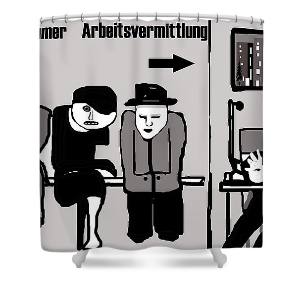 Arbeitsvermittlung Shower Curtain