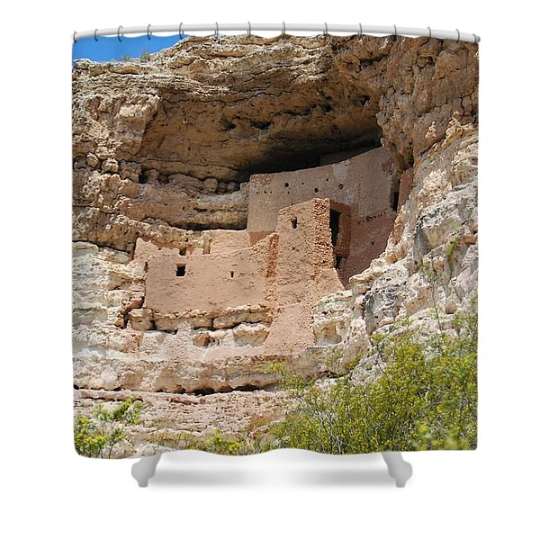Arizona Cliff Dwellings Shower Curtain