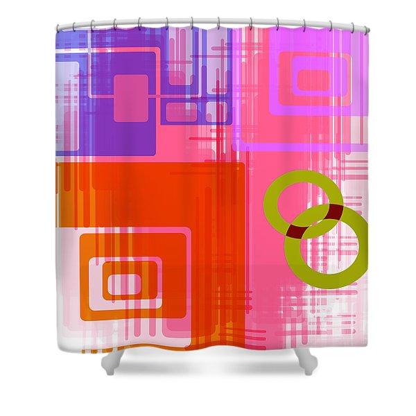 Art Deco Style Digital Art Shower Curtain