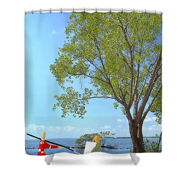 Artist's Art Shower Curtain