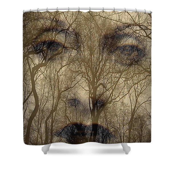 Asphalt - Portrait Of A Lady 2 Shower Curtain