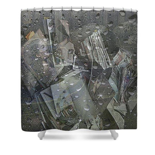 Asphalt Series - 5 Shower Curtain