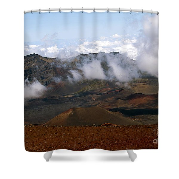 At The Rim Of The Crater Shower Curtain