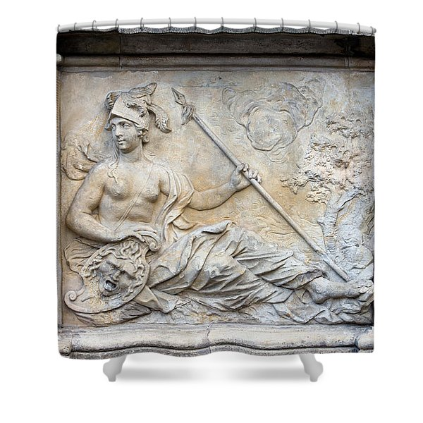 Athena Relief In Gdansk Shower Curtain