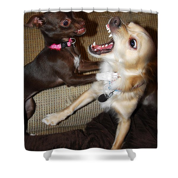 Attack Dogs Shower Curtain