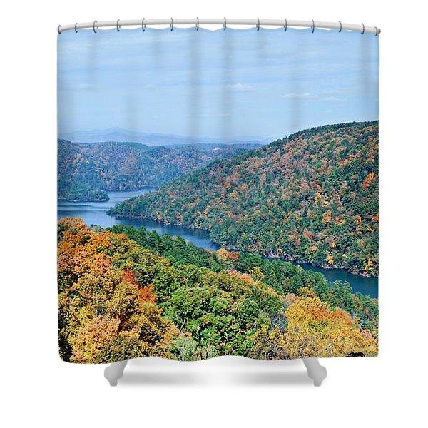 Autumn At Lake Tugalo Shower Curtain