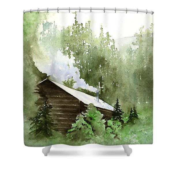 Backcountry Morning Shower Curtain