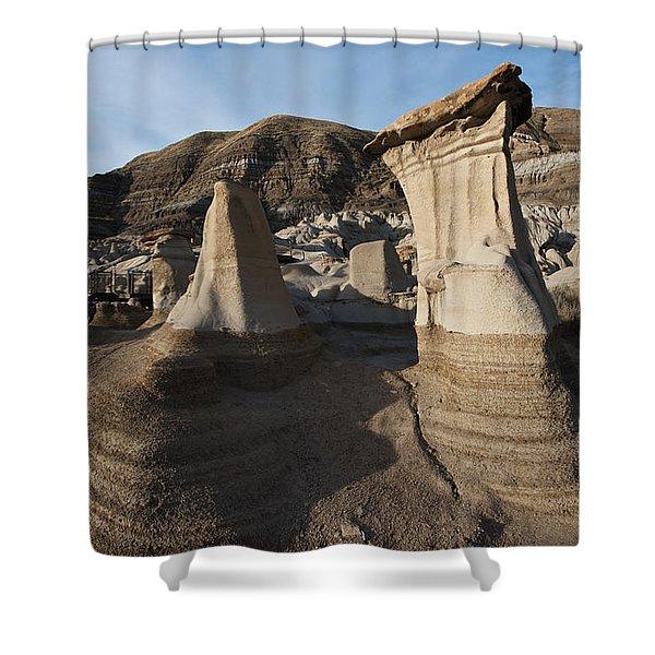 Badland Hoodoos Alberta Shower Curtain