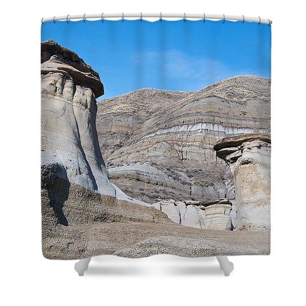 Badland Hoodoos  Shower Curtain