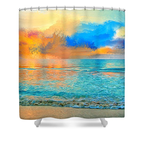 Bali Sunset Shower Curtain