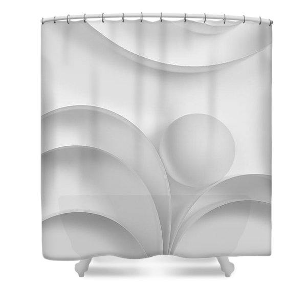 Ball And Curves 03 Shower Curtain