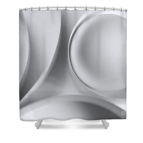 Ball And Curves 04 Shower Curtain