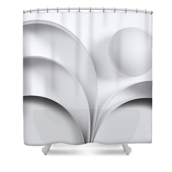 Ball And Curves 05 Shower Curtain
