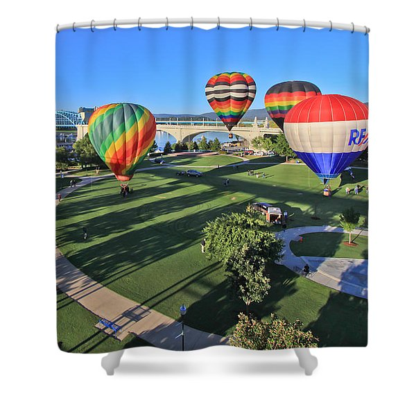 Balloons In Coolidge Park Shower Curtain