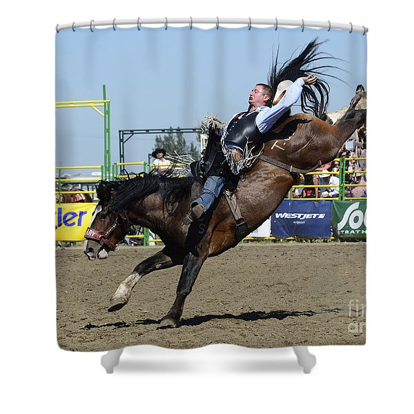 Rodeo Bareback Riding Shower Curtain