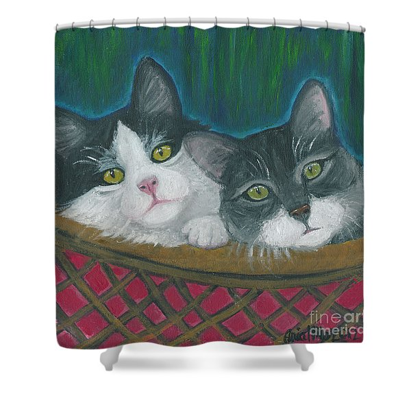 Basket Of Kitties Shower Curtain
