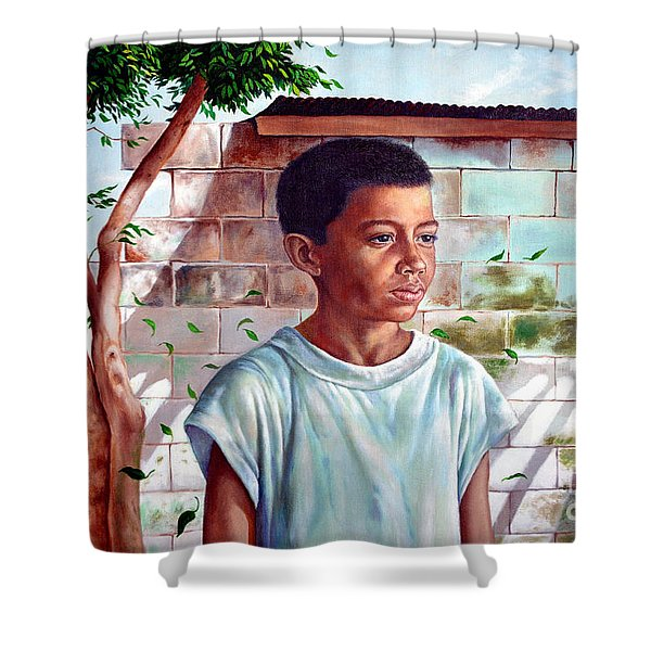 Bata The Filipino Child Shower Curtain