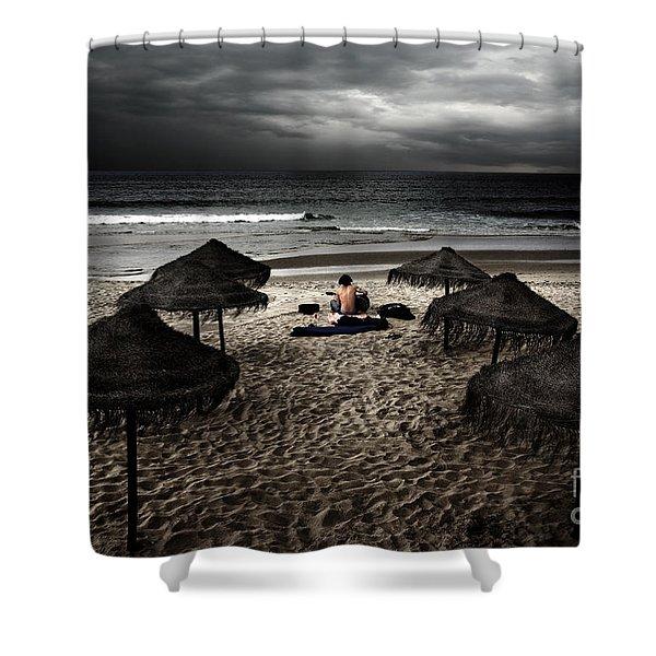 Beach Minstrel Shower Curtain