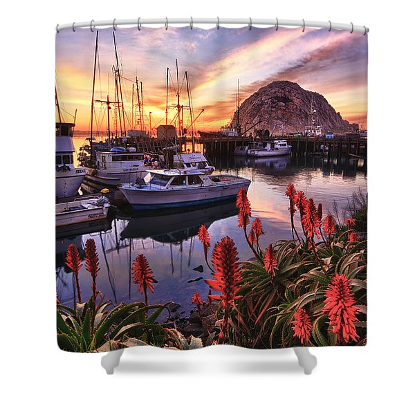 Beautiful Morro Bay Shower Curtain