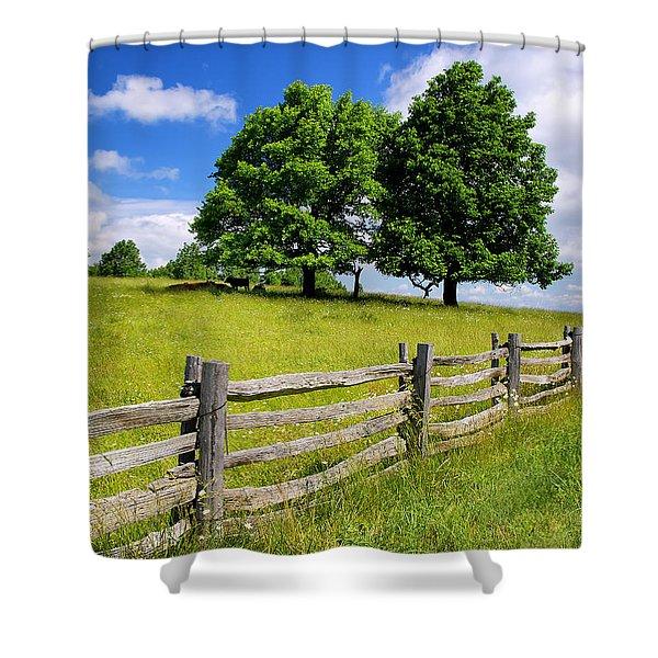 Beautiful Virginia Pasture Shower Curtain