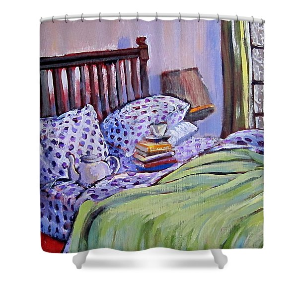 Bed And Books Shower Curtain