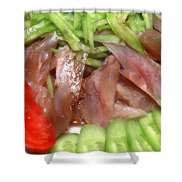Beef Tendon With Vegetables Shower Curtain