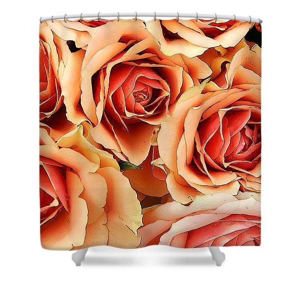 Bergen Roses Shower Curtain