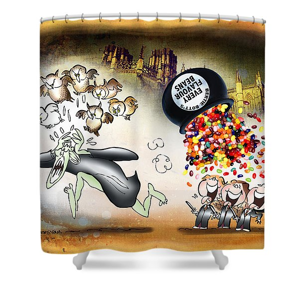 Bertie Bott's Beans Shower Curtain