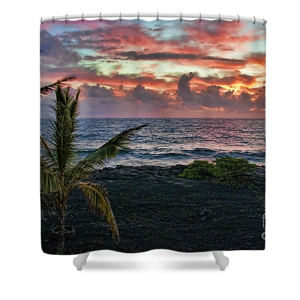 Big Island Sunrise Shower Curtain