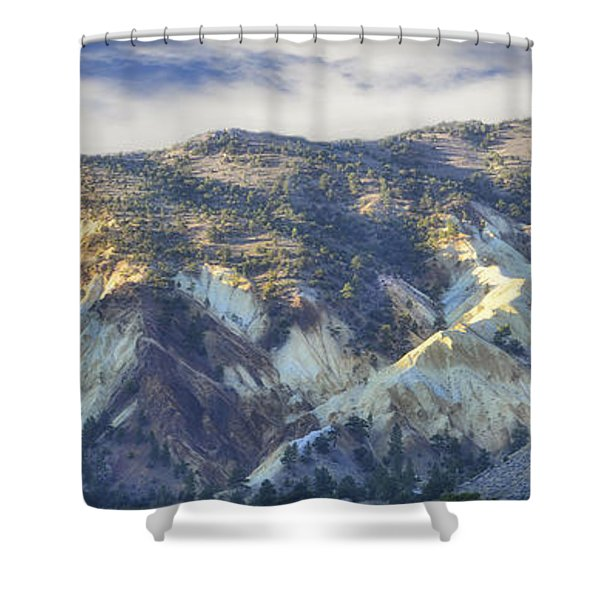 Big Rock Candy Mountains Shower Curtain