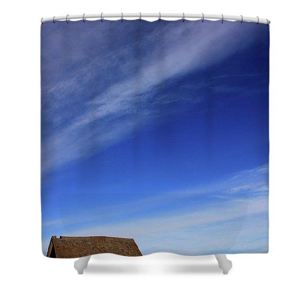 Big Sky School Yard Shower Curtain
