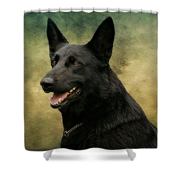 Black German Shepherd Dog IIi Shower Curtain