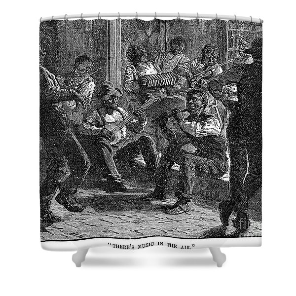 Black Musicians, 1879 Shower Curtain