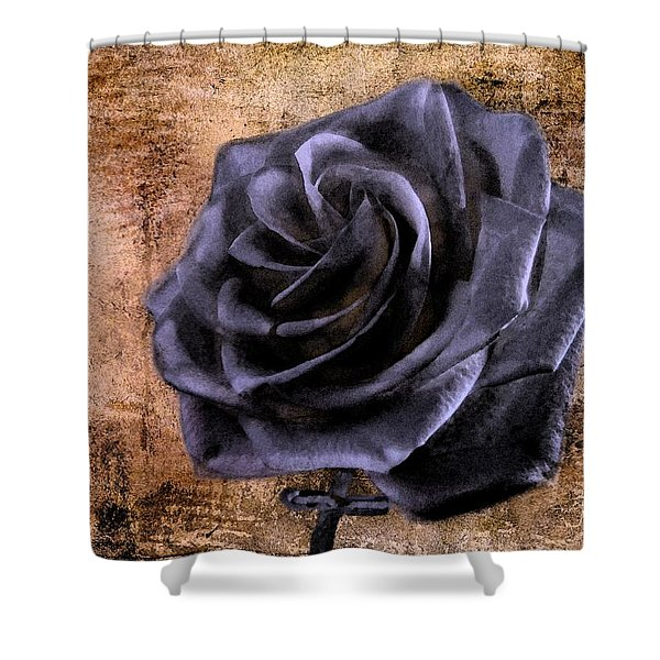 Black Rose Eternal   Shower Curtain